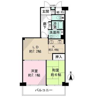 ニューライフマンション木場の間取図