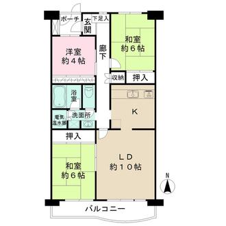 稲毛パークハウスの間取図