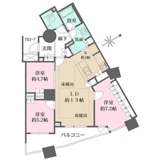 パークハウスプレシアタワーの間取図