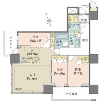 津田沼ザ・タワーの間取図