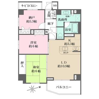 プリムローズ浅草駒形弐番館の間取図