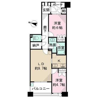 アルス目黒学芸大学弐番館の間取図