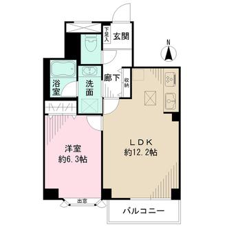 新丸子パークハウスの間取図