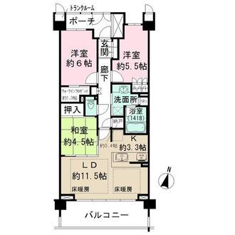 ザ・パークハウス武蔵新城の間取図