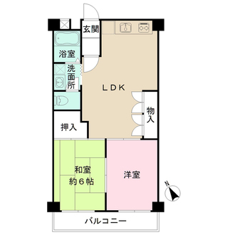 深沢ヒミコマンションの間取図