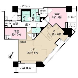 ブリリアザ・タワー東京八重洲アベニューの間取図
