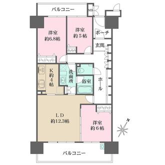 東京サーハウスの間取図