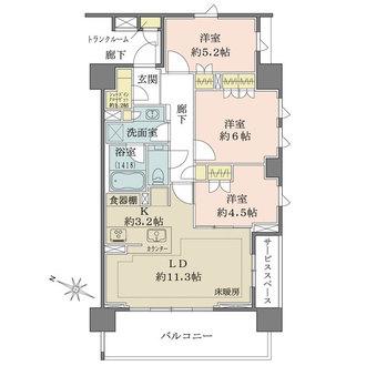 ザ・パークハウスアーバンス目黒平町の間取図