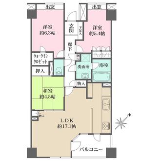 多摩川ガーデンハウスの間取図