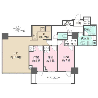 THE KOSUGI TOWERの間取図