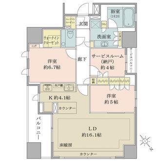 グランスイート千代田麹町の間取図