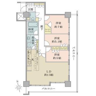 神楽坂アインスタワーの間取図