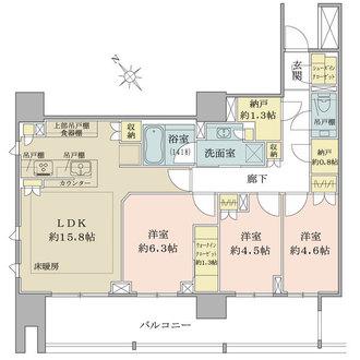 ザ・パークハウス千代田麹町の間取図