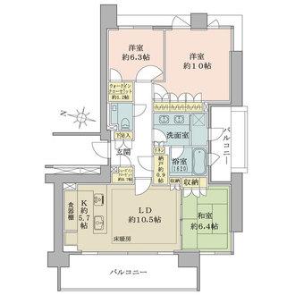 パークハウス一番町の間取図