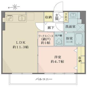 城北台マンションの間取図