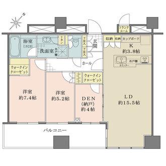 パークコート千代田富士見ザタワーの間取図