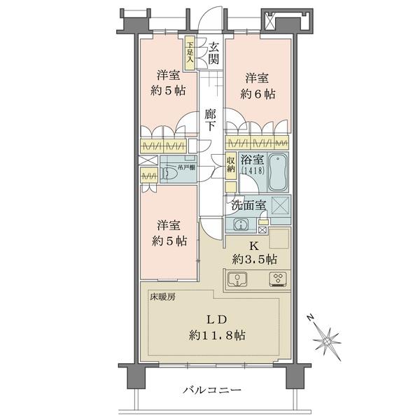 ローレルコート大井町の間取図