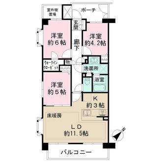大井町パークハウスの間取図