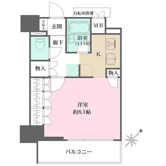 リビオ五反田プラグマGタワーの間取図