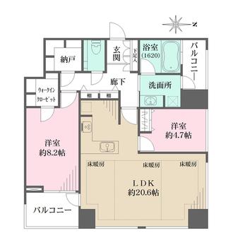 ザ・パークタワー東京サウスの間取図