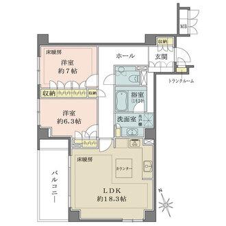 パークハウス島津山の間取図