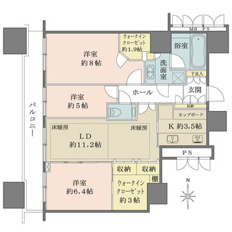 プラウドタワー東五反田の間取図