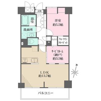 多摩川南パークハウスの間取図