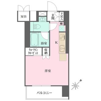 東建東五反田マンションの間取図