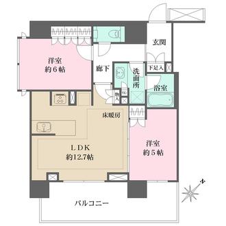 ザ・パークハウスアーバンス東五反田の間取図