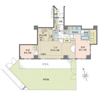 パークハウス池田山公園-白金台の杜-の間取図