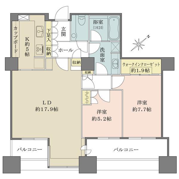 東京ツインパークスの間取図