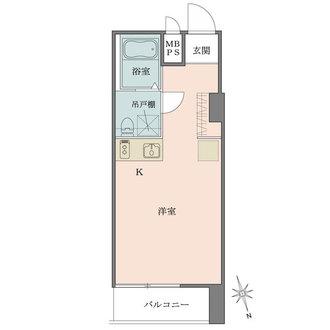 ライオンズマンション新富町第弐の間取図