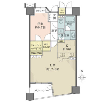 クイーンズパレス東京中央の間取図