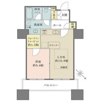 東京ツインパークスレフトウイングの間取図