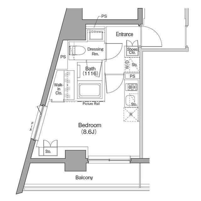 ザ・パークハビオ西横浜の間取図
