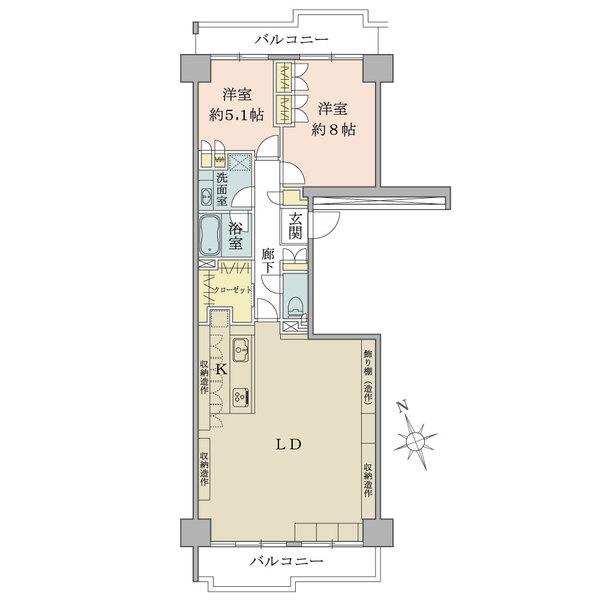 ニューシティ東戸塚パークヒルズH棟の間取図
