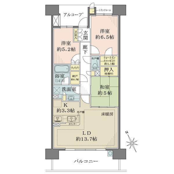 MINASIA湘南ライフタウンパークフォートの間取図