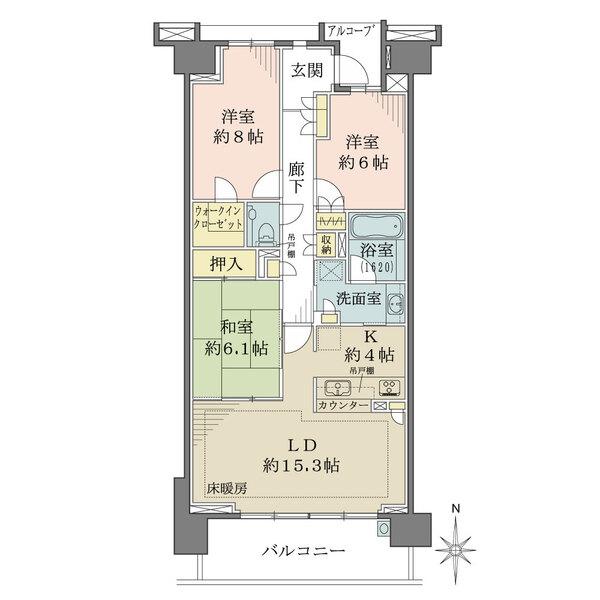 グランドメゾン東戸塚5番館の間取図