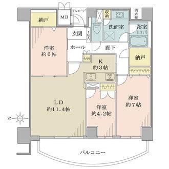 ニューシティ東戸塚パークハウス南の街の間取図
