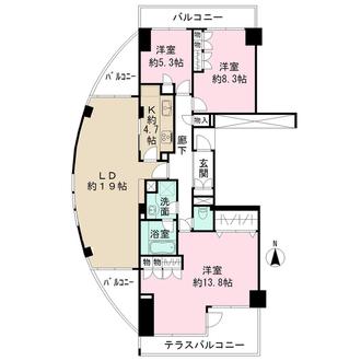 ニューシティ東戸塚アーバンハイツ丘の街の間取図