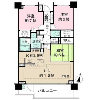 ザ・パークハウス東戸塚の間取図