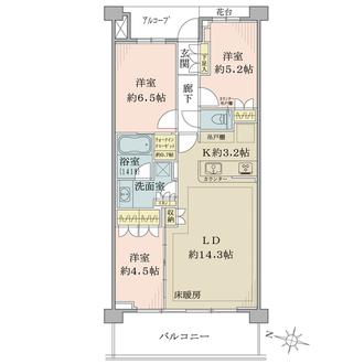 ザ・パークハウス茅ヶ崎東海岸南の間取図