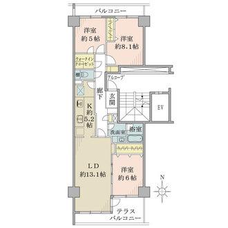 ニューシティ東戸塚クレール丘の街の間取図