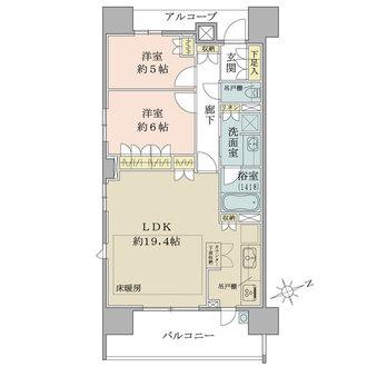 ザ・パークハウス茅ヶ崎の間取図