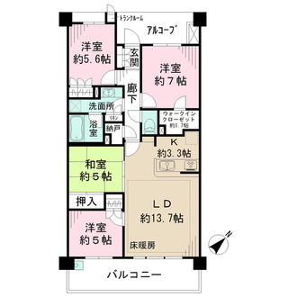 MINASIA湘南ライフタウンヒルズフォートの間取図