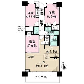 ザ・パークハウス東戸塚テラスの間取図