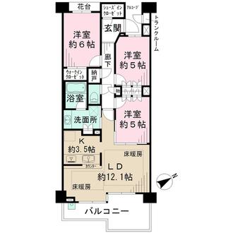 パークホームズ東戸塚プレシャスアベニューの間取図