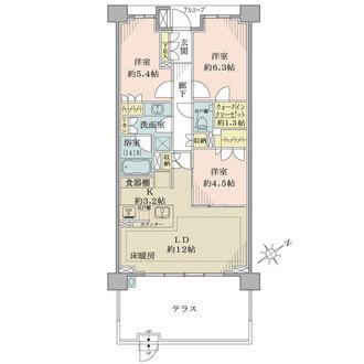 ザ・パークハウス東戸塚レジデンスの間取図