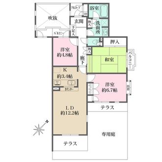 藤和ライブタウン大船3号棟の間取図