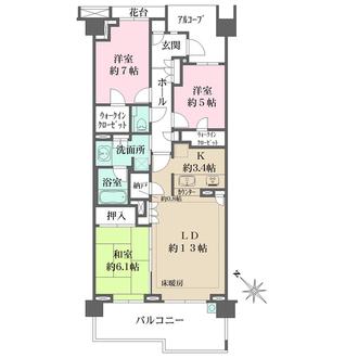 グランドメゾン東戸塚の間取図